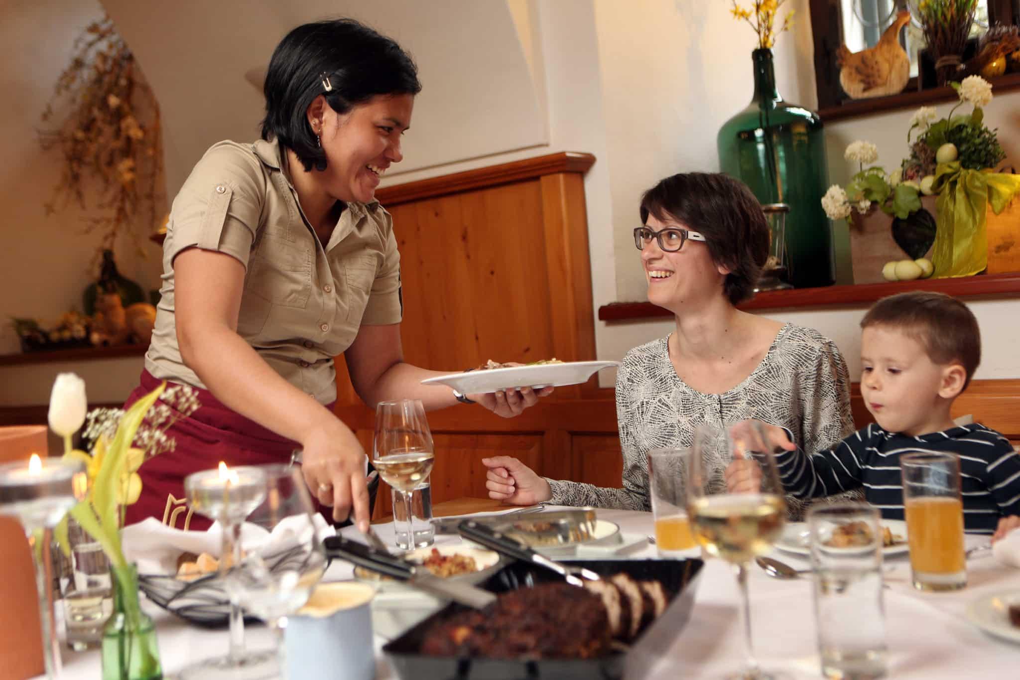 Meierhof beim Stift Seitenstetten Essen und Verpflegung