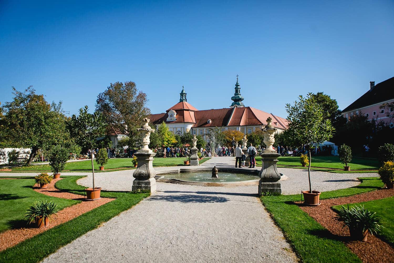 Barockes Parterre Hofgarten des Stifts Seitenstetten